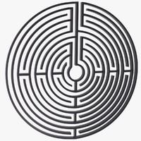 3d maze labyrinth geometry model