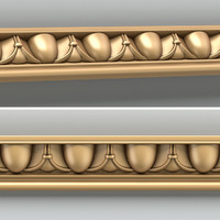3d decorative molding model