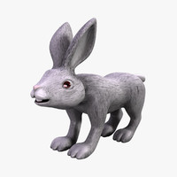 3d model of cartoon rabbit
