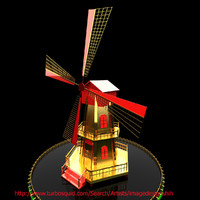 3d model dutch windmill