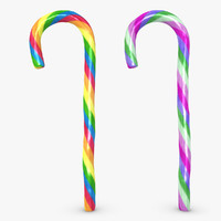 realistic candy cane 04 3d 3ds