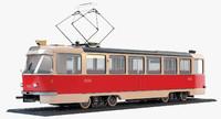 tatra t3 tram 3d model