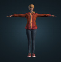 3d woman characters