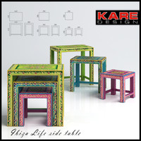 stools coffee tables kare 3d model