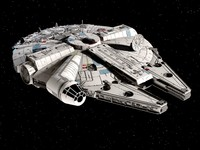 millenium falcon star 3d 3ds