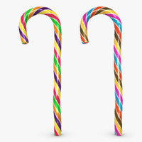 3d model candy cane 05 2