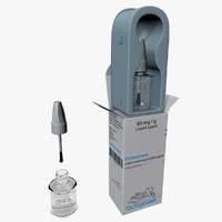 medical cardboard box flask 3d model