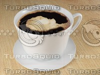 cup coffee table wood 3d max