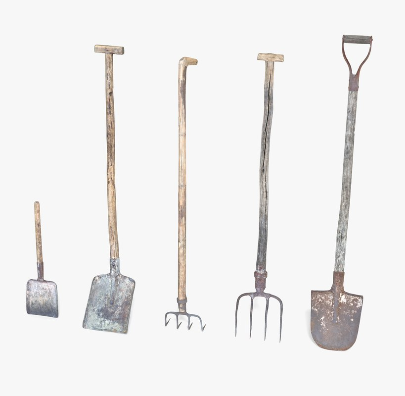 modo sculpt photorealistic 3d model On gardening tools 3d model