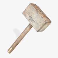 Old Wooden Hammer