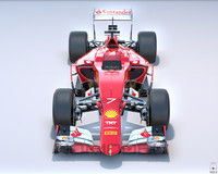 3d scuderia ferrari sf15-t formula car model