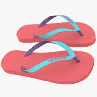 havaianas sandals 2 3d max