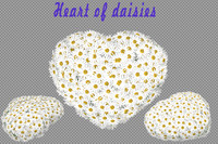 3d heart daisies model