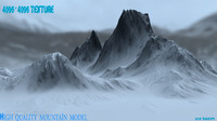 3d snow mountain 1 model