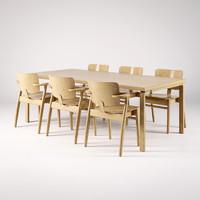 artek domus chair 3d model