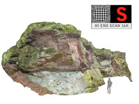 rock cliff wall 16k obj