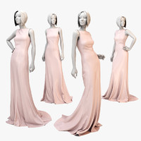 3d model dress mannequin woman