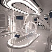 3d futuristic sci fi laboratory