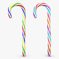realistic candy cane 06 3d max