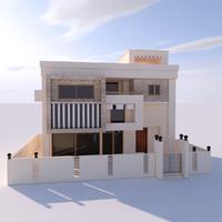 moden villa 3d model