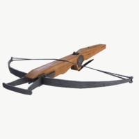 3d model crossbow medieval