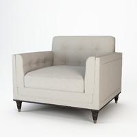 baker wren tufted chair 3d 3ds