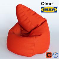 3d olme ottoman slipcover model