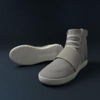3d adidas yeezy 750 model