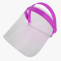dental face shield 3d obj