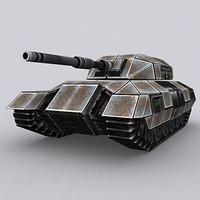 sci-fi tank t-04 3d model