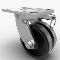 caster wheel 3d ma