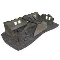 3d house ruin model