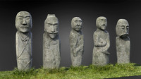 3d model stone monuments ulitau mountains