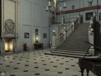 polygonal entrance hall victorian 3d model