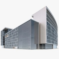 3d modern office building model