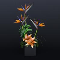 3d model ikebana