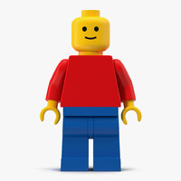 3d model of classic lego man