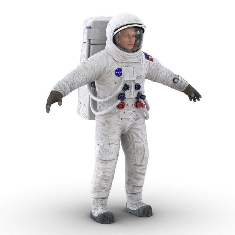 Astronaut NASA Wearing Spacesuit A7L 3d model 02.jpg