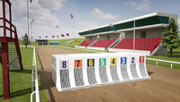 3d greyhound racecourse pack racing