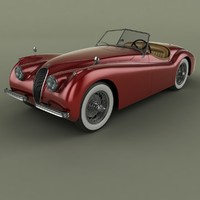 xk120 roadster 3ds