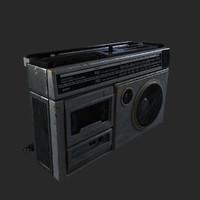 3d model cassette player