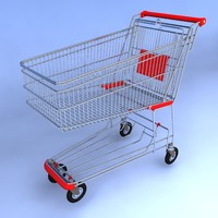 3d model of shopping cart