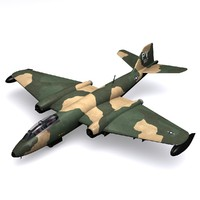 3d model martin b-57 canberra bomber