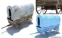 3d model wild west vagon