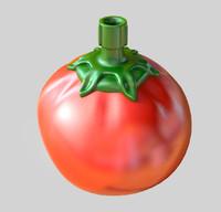 diner tomato ketchup bottle 3d obj