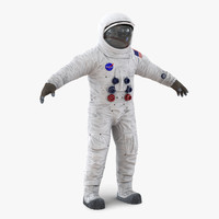3d a7l apollo skylab spacesuit model