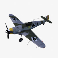 3d model messerschmitt bf 109 g-10