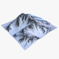 3d landscape mountains 3 snow