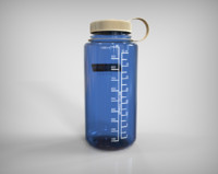 3d water bottle model