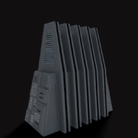 3d model sci-fi building